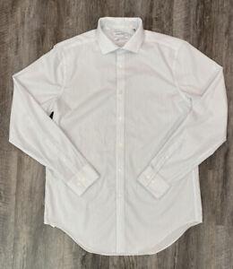 Calvin Klein Mens Dress Shirt Infinite Non-Iron/Slim Fit/Stretch Collar 16 34/35