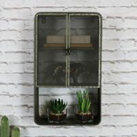 retro rustic metal industrial style wall cabinet bedroom bathroom home storage