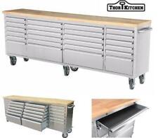 Thor 96'' 24 Drawers Tool Chest Cabinet Anti-fingerprint Tool Box Work Bench CA