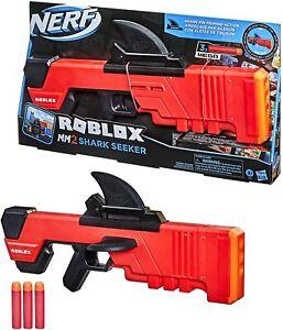 NERF Roblox MM2 Shark Seeker Dart Blaster 3 Mega Darts New 2021 With Code