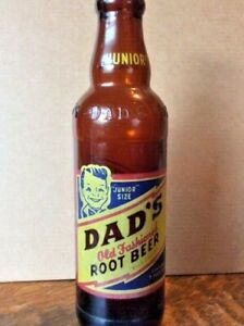 Vintage Dad's Junior Root Beer 7 ounce Bottle from Dover Ohio