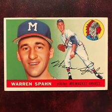 1955 Topps Set WARREN SPAHN #31 MILWAUKEE BRAVES - EX
