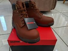 Wolverine Men's Steel Toe Boots Size 9.5 (NEW SHIPPED WITHOUT BOX) Brown 84913