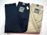 LOT OF 2 Jos. A. Bank 35x32 Men's Tan Khaki Navy Double Pleated Pants NEW NWT