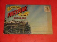 JE357 Vintage Souvenir Fold-Out Postcard Folder Pikes Peak Colorado