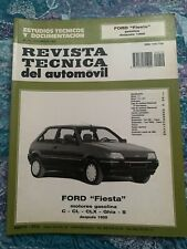 FORD FIESTA'89 MANUAL DE TALLER DE COCHE. AÑO 1991