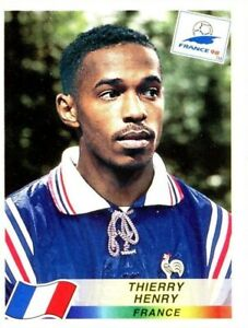 PANINI WORLD CUP 1998 THIERRY HENRY STICKER NO 172