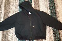 Carhartt j140 Black Lined Hooded Men's 4XL REGULAR Jacket U.S.A