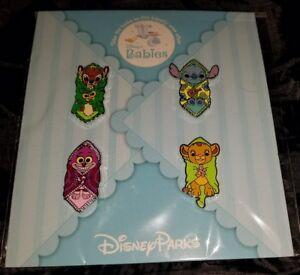 Disney Pins Blanket Babies Booster Set w/ Bambi Simba Stitch Cheshire FREE SHIP