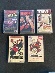 Essendon Bombers AFL VHS Video Large Lot - 1984-2000