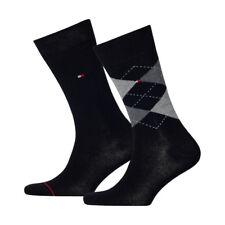 6 Paar Tommy Hilfiger Socken Check 39-42 schwarz