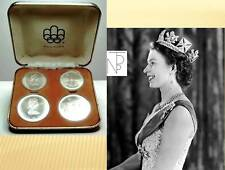 CANADA (Set Series,Montreal 1976) 4 Silver coins-FDC./UNC