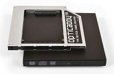 Opticaddy SATA-3 HDD/SSD Caddy+scatola DVD Dell Latitude E5540 E6410 E6440 E6500