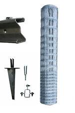 150 Meter Komplett - Set Wildgatter 150/13/15 Knotengeflecht Wildzaun Erdteller