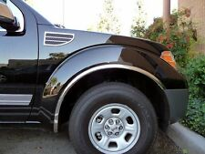 Fits The Nissan Titan 2004-2015 Polished Stainless Steel Fender Trim 4 pc.