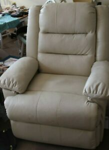 Chairs Manual recliners beige Faux leather
