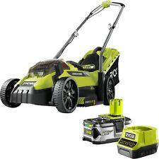 Ryobi 18v One Cordless Electric Lawn Mower 4.0ah Lithium Battery Charger Kit