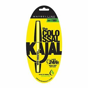 Maybelline New York The Colossal Kajal Crayon Eyeliner, 0.35g, Noir (Lot De 1)