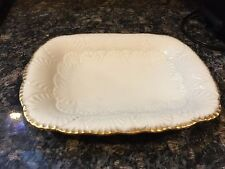 LENOX NASSAU server candy dish Gold trim (CL250#1.6)