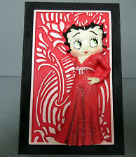 New 3D Betty Boop in Red Dress Rectangular Black Trinket Box Rare & Retired