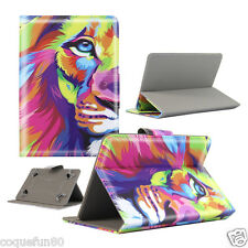 Housse Etui Tablette Galaxy Tab A 6 - 7 Pouces - Design Lion