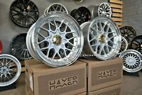 New 18 inch 5X112 HAXER BBS RS II 2 style DEEP DISH wheels for BMW AUDI MERCEDES