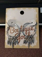 Boutique Goods small silver hoop earrings with dangles that can be removed