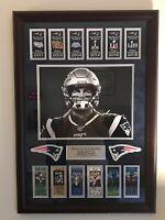 Tom Brady Custom Framed 20x30 Photo New England Patriots Super Bowl