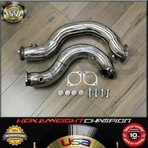 """Performance 3"""" Catless Twin Turbo Downpipe for BMW 135i 335i E90 E91 E92 E93 E82"""