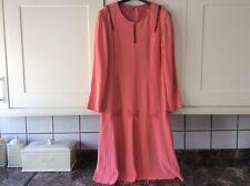 Ladies gorgeous size 14 vintage orange colour calf length dress