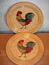 "Totally Today Rooster Dessert Plates 7""      set of 2 Chicken Dishes"