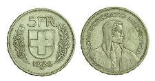 pci1412) Svizzera  Switzerland  Helvetia - 5 Franchi Francs 1932 B not cleaned