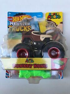 Hot Wheels Super Mario Monster Trucks Donkey Kong, New & Sealed
