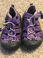 KEEN Youth Girls 1 Eu 33 UK 13 Waterproof Sandals Purple Suede LN EUC