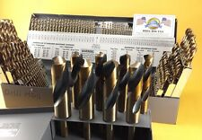 Drill Hog USA 123 Pc Drill Bit Set Letter Number COBALT M42 Lifetime Warranty