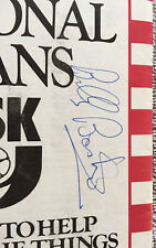 More details for 1982 wigan v hull fc billy boston autograph division 1 rugby league programme