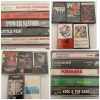 Rock Cassette Tape Lot Foreigner Kool & The Gang Little Feat Deee-Lite Bus Boys