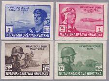 Kroatien 1943 Mi.Nr. 107-110 ungezähnte Farbproben postfrischer Satz 1