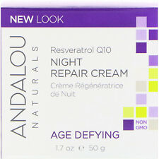 Andalou Naturals, Night Repair Cream, Resveratrol Q10, Age-Defying, 1.7 fl oz (5