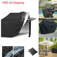 BBQ Gas Grill Cover Barbecue Waterproof Outdoor Heavy Duty Protection Black