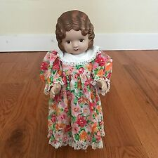 "Daisy Kingdom 17"" Pansy Doll  Brown Hair Brown Eyes 1991 So Cute!"