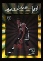 2016-17 Donruss CARIS LEVERT Rare HOLO LASER-GOLD ROOKIE CARD RC #/25 Pacers 167