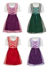 3 teiliges Kinder Dirndl Lena  rot-,lila, grün- oder beere kariert MS-Trachten