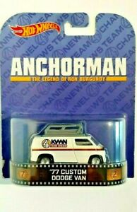 2013-Hot Wheels-Anchorman-Legend Of Ron Burgundy-'77 Custom Dodge Van-1:64-Boys