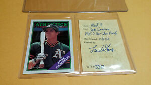 Jose Canseco 1988 O-Pee-Chee Proof Graded WTR 8 Near Mint A's