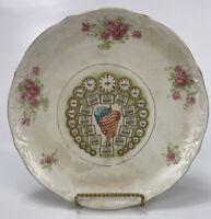 """Antique Advertising Calendar Plate 1913 """" Our Art Department """" Vintage Porcelain"""