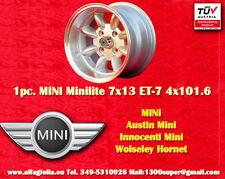 1 Cerchio Mini Minilite 7x13 ET-7 PCD 4x101.6 N.1 Wheel Felge Llanta Jante TUV