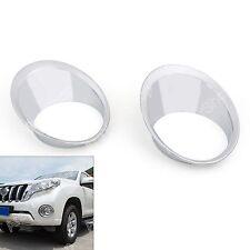For Toyota Land Cruiser Prado 2014-2016 Front Fog Light Lamp Ring Cover Trim