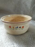 Antique Cambridge Ohio Universal Potteries Inc Large Mixing Bowl flower pattern