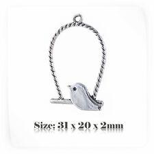 10 Tibetan Silver Antique Vintage Style Bird Charms Pendant Steampunk 027s
